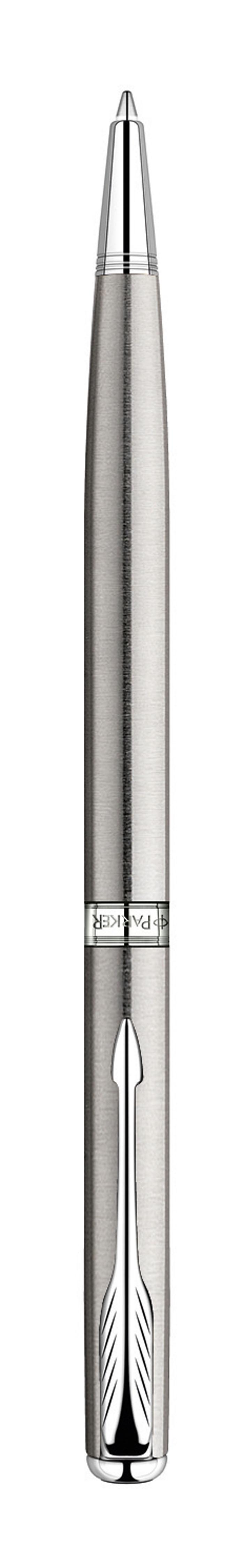 Parker Ручка шариковая Sonnet Slim Stainless Steel СTPARKER-S0809250Механизм ручки: шариковая, поворотный механизм Размер пишущего узла М (medium) - Средний 1 мм Шариковая ручка, поворотный механизмМатериал корпуса: Нержавеющая сталь Покрытие корпуса: Нержавеющая стальМатериал отделки деталей корпуса: ХромЦвет стержня: черныйВыгравированный логотип PARKER на декоративном кольцеКомплектация: Фирменная упаковка, руководство по эксплуатации с гарантийнымталоном. Гарантия производителя: Два (2) года со дня покупки.