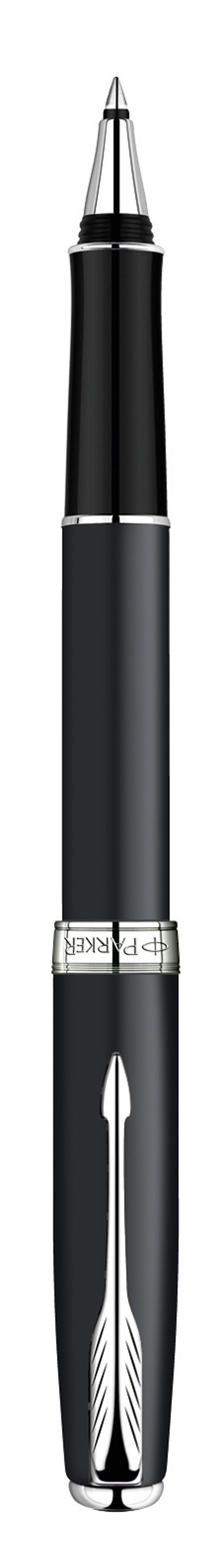 Parker Ручка-роллер Sonnet Matte Black CTPARKER-S0818110Ручка-роллер Parker Sonnet Matt Black CT из самой популярной коллекции Sonnet. Материал ручки - ювелирная латунь с покрытием матовым лаком черного цвета, в отделке применяется посеребрение. В ручке используются стандартные стержни-роллеры Parker, в комплект поставки входит один стержень черного цвета. Данный пишущий инструмент поставляется в фирменной подарочной коробке премиум-класса, что делает его превосходным подарком. В комплекте также идет гарантийный талон с международной гарантией на 2 года.Механизм: съемный колпачокДлина: 13.2 смДиаметр (max): 13 ммЦвет: черныйЦвет отделки: серебристыйСтержень в комплекте черный, F (тонкий)Комплектация: 1 стержень в коробке, подарочная коробка, гарантийный талон