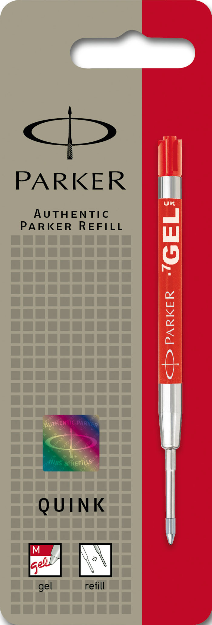Parker Стержень гелевый для шариковой ручки цвет чернил красныйPARKER-S0881270Стержень гелевый для шариковой ручки.Линия письма - средняя 0,7 мм.
