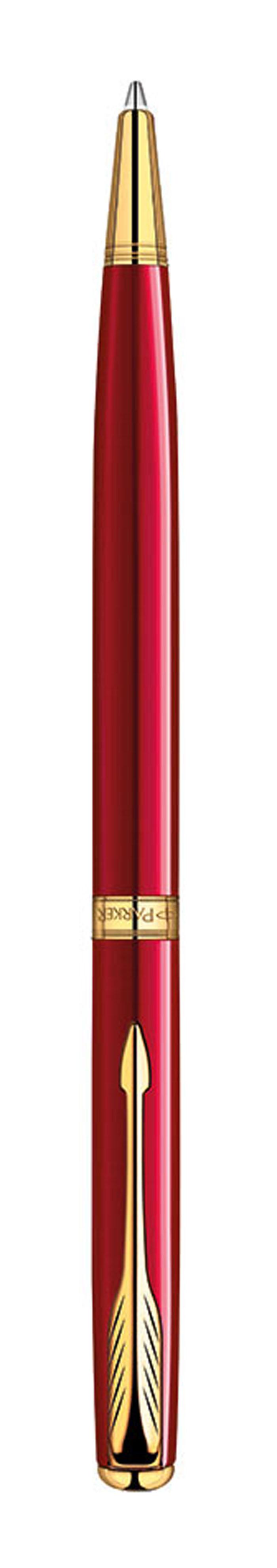 Parker Ручка шариковая Sonnet Slim Laque Red GTPARKER-S1859473Шариковая ручка Parker Sonnet Slim K439 Lacque Red GT из самой популярной коллекции Sonnet. Материал ручки - ювелирная латунь с лаковым покрытием восхитительного ярко-красного цвета, в отделке применяется позолота 23К. В ручке используются стандартные шариковые стержни Parker, в комплект поставки входит один стержень черного цвета. Данный пишущий инструмент обладает утонченным корпусом, всего 8 мм, и поставляется в фирменной подарочной коробке премиум-класса, что делает его превосходным подарком для девушки, а также для всех, кто предпочитает ручки с тонким корпусом. В комплекте идет гарантийный талон с международной гарантией на 2 года.Механизм поворотного действияДлина 13.2 смДиаметр (max) 8 ммЦвет красныйЦвет отделки золотойОсобенности используются стандартные шариковые стержни ParkerСтержень в комплекте черный, M (средний)Комплектация: 1 стержень в ручке, подарочная коробка, гарантийный талон