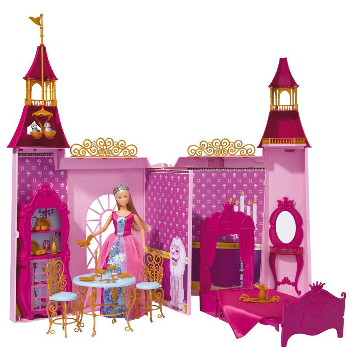 Simba Игровой набор с куклой Замок Штеффи simba игровой набор с мини куклой evi love fairy carriage