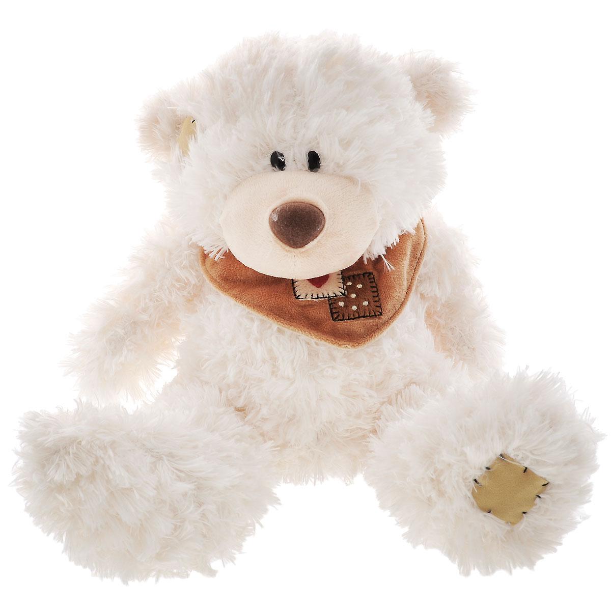 Plush Apple Мягкая игрушка Белый медведь с шарфом, 25 см panno utki 3d model relief figure stl format the duck 3d model relief for cnc in stl file format