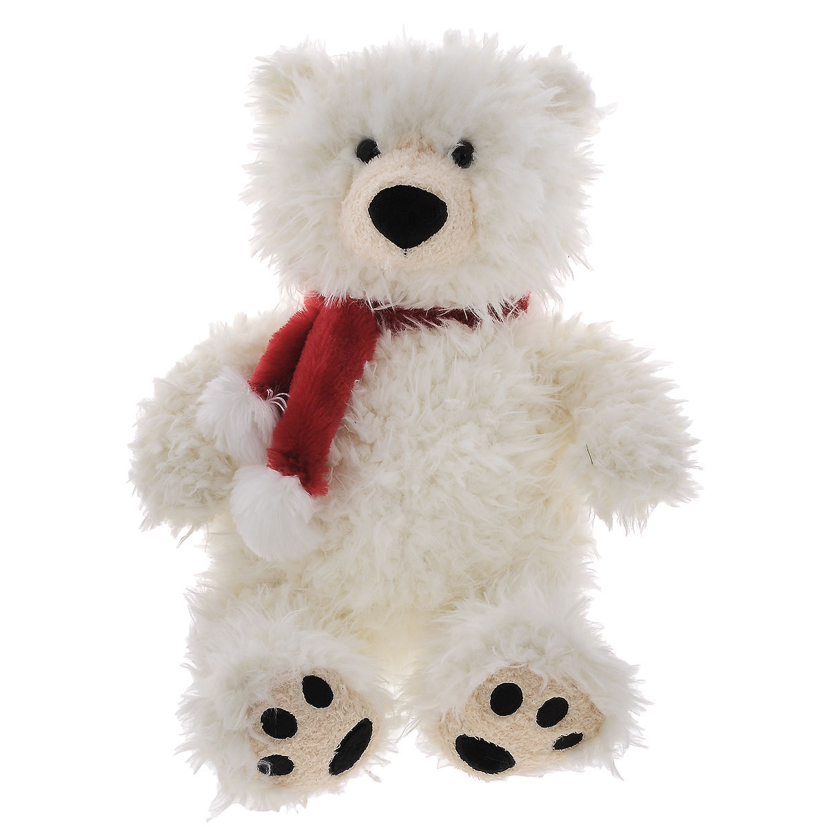 Plush Apple Мягкая игрушка Полярный медведь с шарфом, 47 см anna club plush мягкая игрушка бассет хаунд 18 см