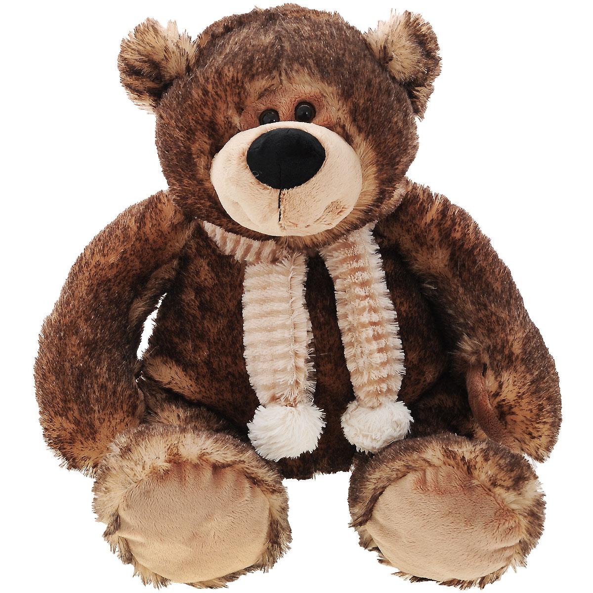 Мягкая игрушка Plush Apple Медведь, цвет: коричневый, 37 см мягкая игрушка plush apple медведь мишуткин с сердцем 30 см