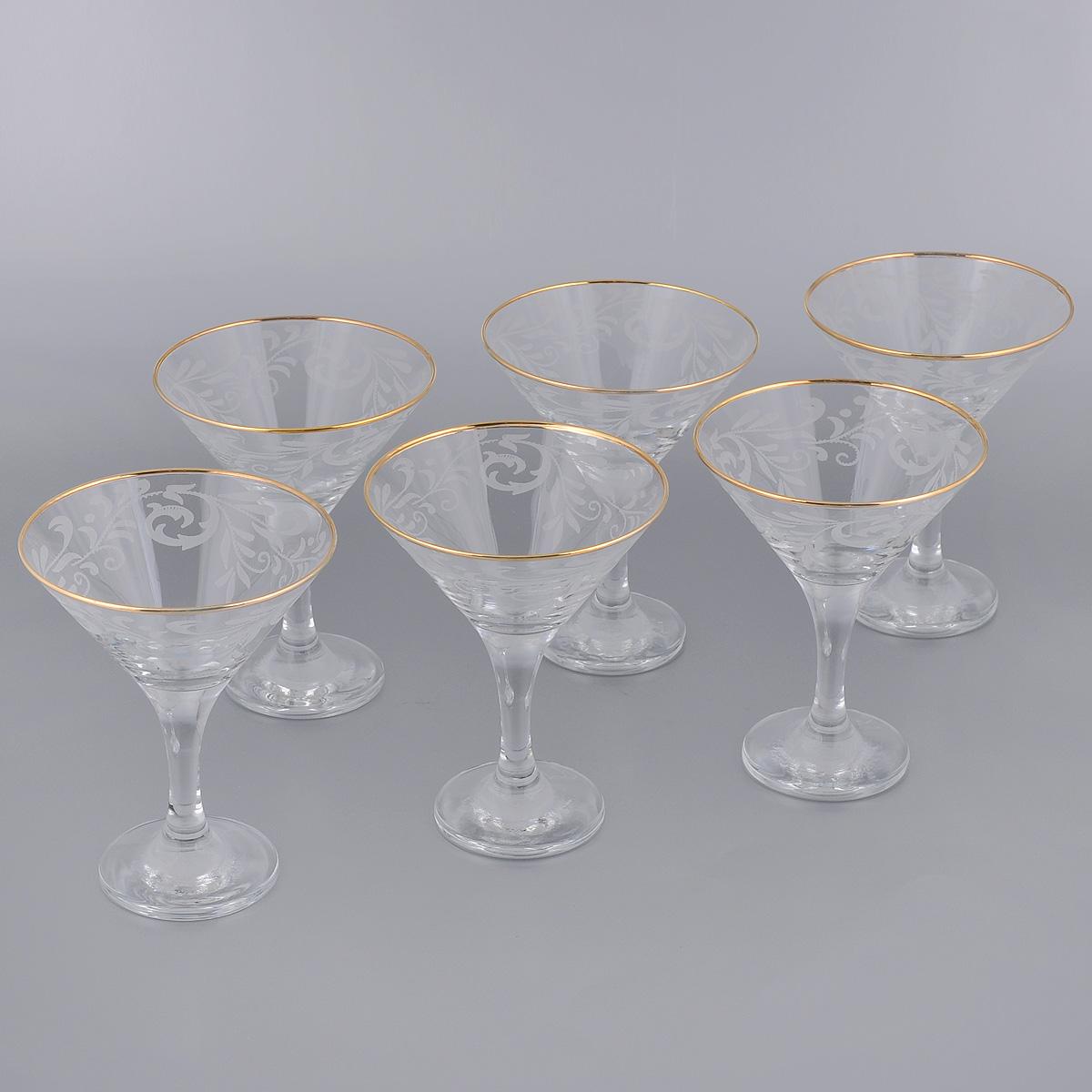 Набор бокалов для мартини Гусь-Хрустальный Веточка, 170 мл, 6 шт набор бокалов для бренди гусь хрустальный версаче 400 мл 6 шт