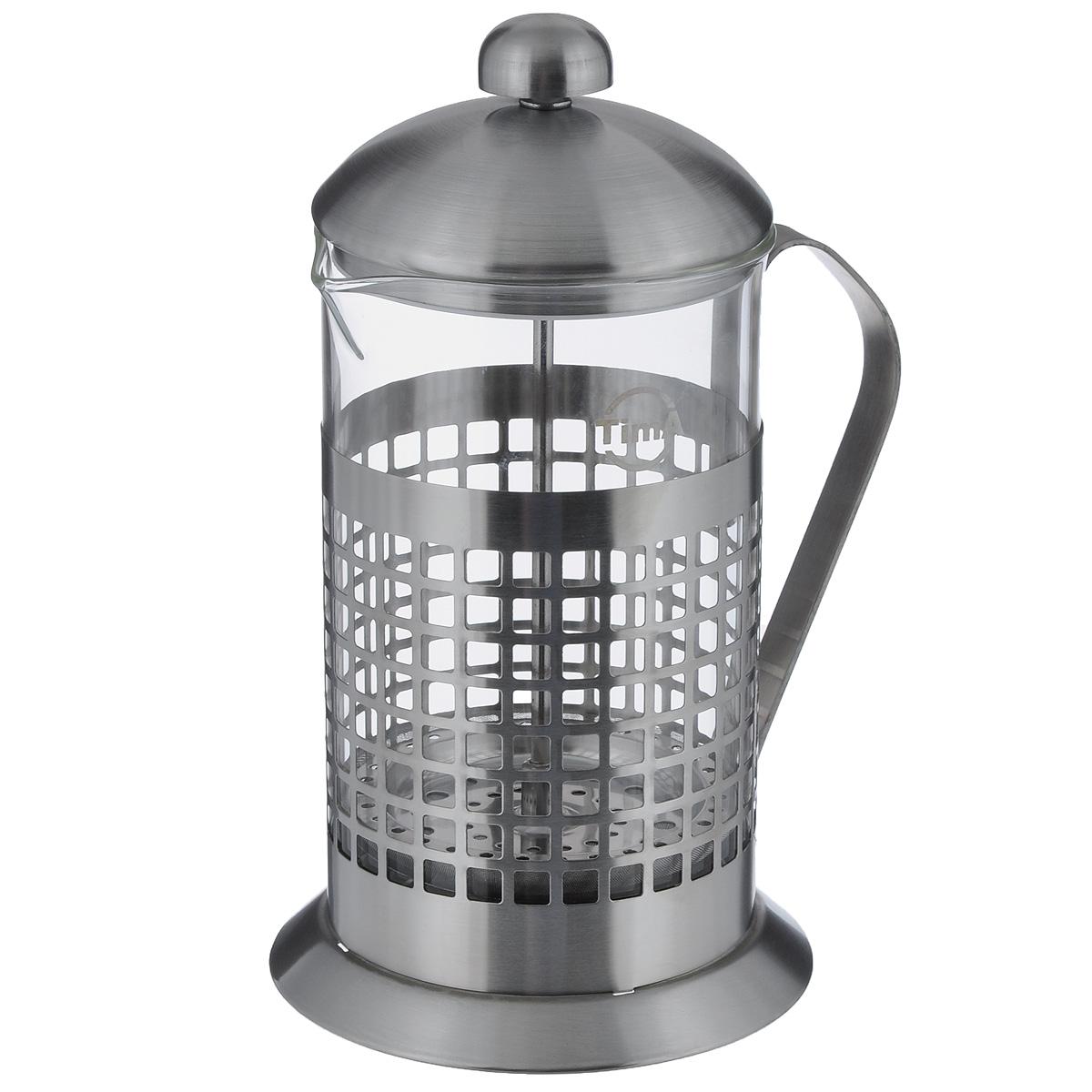 Чайник заварочный TimA Бисквит, 800 млPB-800Чайник заварочный TimA Бисквит выполнен в виде френч-пресса и представляет собой гибрид заварочного чайника и кофейника. Колба выполнена из жаропрочного стекла, корпус, крышка и поршень изготовлены из нержавеющей стали. Изделие легко разбирается и моется. Прозрачные стенки чайника дают возможность наблюдать за насыщением напитка, а поршень позволяет с легкостью отжать самый сок от заварки и получить напиток с насыщенным вкусом. Заварочный чайник - постоянно используемый предмет посуды, который необходим на каждой кухне. Френч-пресс TimA Бисквит займет достойное место среди аксессуаров на вашей кухне. Можно мыть в посудомоечной машине. Диаметр (по верхнему краю): 10 см. Высота чайника (с крышкой): 22 см.Объем: 800 мл.