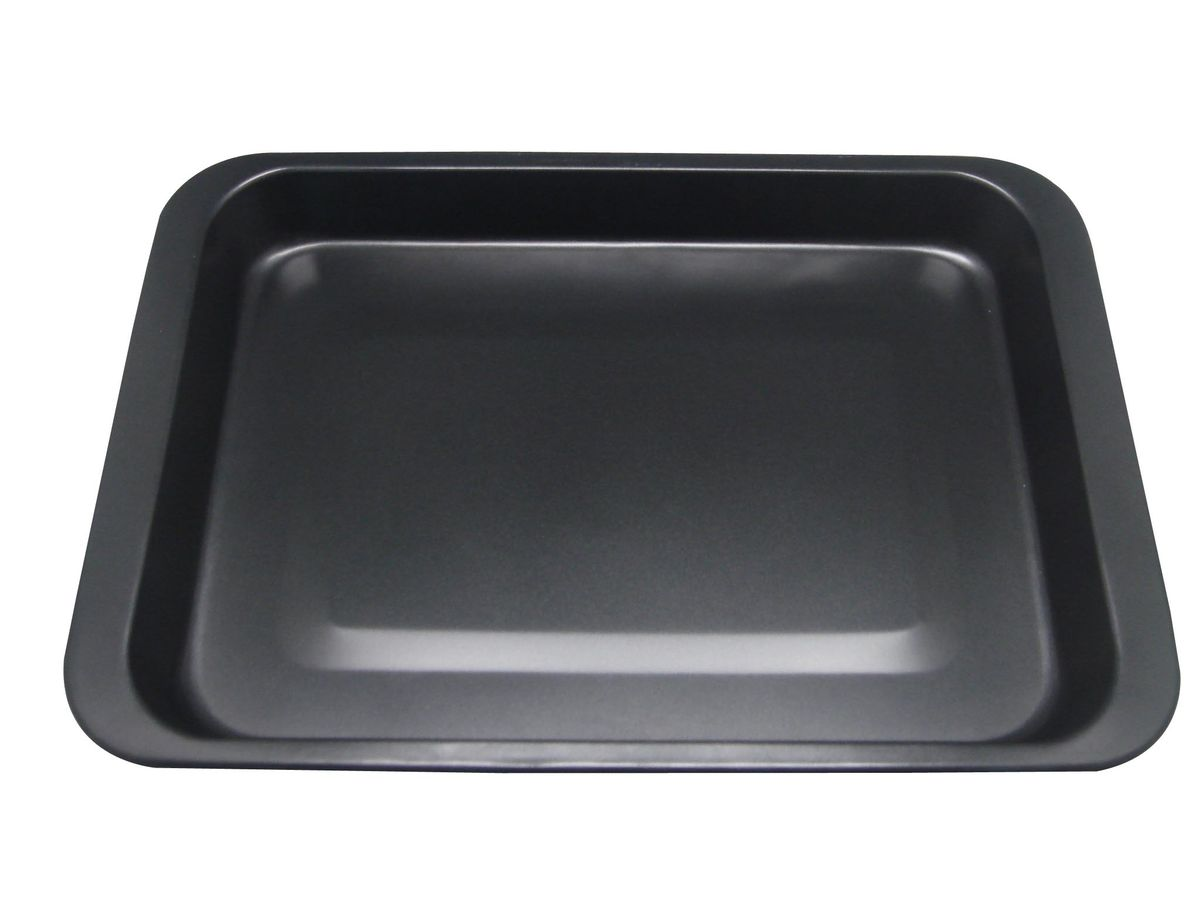 Противень 42*29*5см., толщина корпуса 0,5мм, антиприг. покрытие Goldflon, можно мыть в посудомоечной машине. Состав: углеродистая сталь.