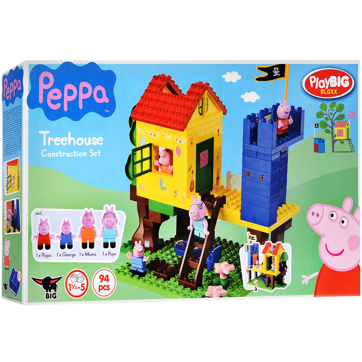 Peppa Pig Конструктор Дом на дереве конструктор big игровая площадка peppa pig 57076