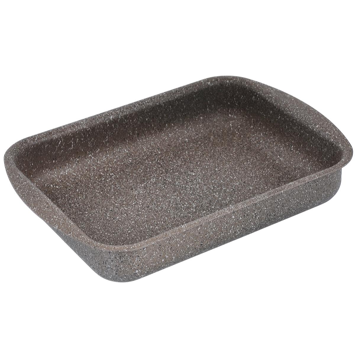 Противень TimA Art Granit, с антипригарным покрытием, прямоугольный, 31 см х 23 см х 6 смAT-3123Прямоугольный противень TimA Art Granit изготовлен из алюминия с антипригарным покрытием. Пятислойное сверхпрочное антипригарное покрытие нового поколения серии Art Granit состоит из нескольких слоев каменной крошки с высоким содержанием минералов. Это обеспечивает максимальный антипригарный эффект для приготовления блюд любой сложности и устойчивость к царапинам и истиранию. Возможно использование металлических столовых приборов.Утолщенное дно способствует равномерному распределению и сохранению тепла, что позволяет доводить блюдо до готовности без источника тепла. Посуда не боится перегрева, не выделяет опасных компонентов даже при высоких температурах. Покрытие абсолютно экологично, не содержит PFOA, примесей кадмия и свинца. Легко моется. Подходит для духового шкафа. Можно мыть в посудомоечной машине. Внутренний размер противня: 31 см х 23 см. Размер противня (с учетом ручек): 36 см х 25 см. Высота стенки: 6 см.