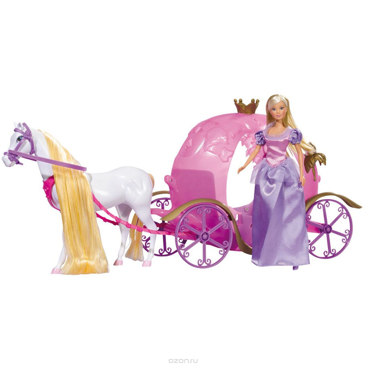 Simba Игровой набор с куклой Сказочная карета Штеффи simba игровой набор с мини куклой evi love fairy carriage