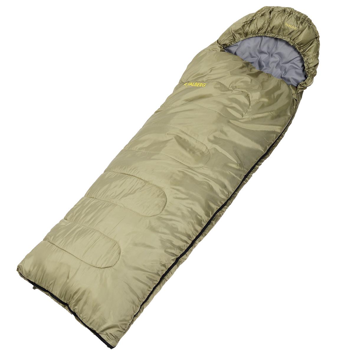 Спальный мешок-одеяло Talberg Taunus, левосторонняя молнияУТ-000055172Спальник-одеяло Talberg Taunus с подголовником довольно легкий, рассчитан на теплое время года. Внутренняя ткань этого спальника - поликоттон, т.е. хлопок с привнесением синтетики. Поликоттон легче и практичнее 100% хлопка.Наружная ткань: полиэстер RipStop 210T. Внутренняя ткань: полиэстер 80%, хлопок 20%. Утеплитель: 1x350 g/m2, Hollofibersilicon.