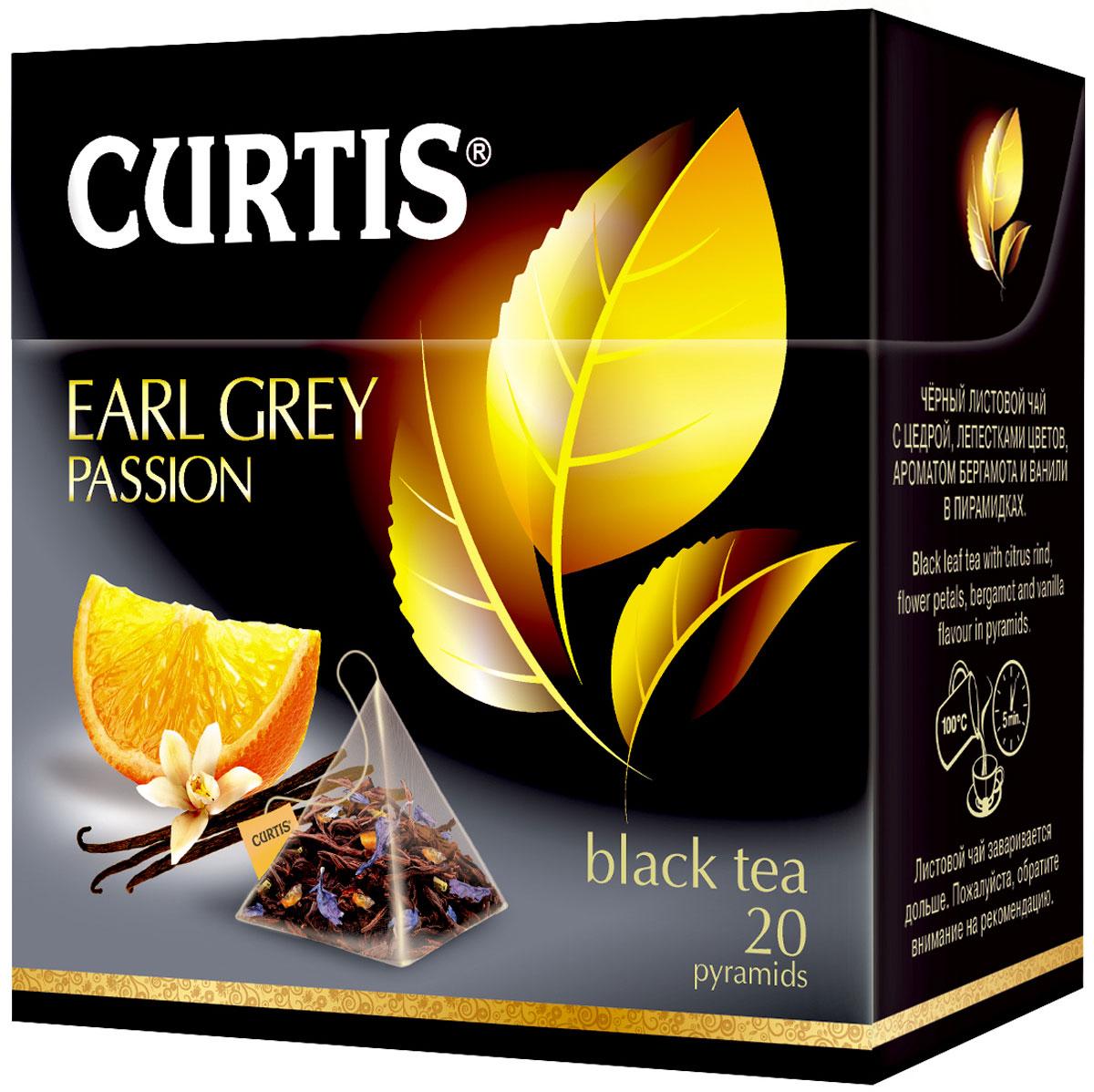 Curtis Earl Grey Passion черный чай в пакетиках, 20 шт чай чёрный newby earl grey пакетированный с ароматом бергамота