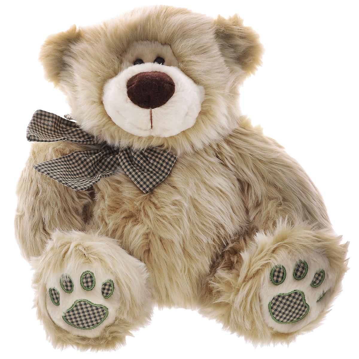 Мягкая игрушка Plush Apple Медведь с бантиком, 43 см мягкая игрушка plush apple собака с шарфом 28 см