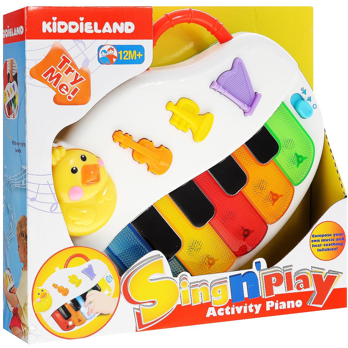 Kiddieland Развивающая игрушка Пианино kiddieland развивающая игрушка забавная камера
