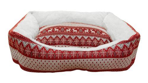 Лежак для животных Fauna Laplandie, цвет: красный, белый, 54 х 49 х 16 смFIDB-9017Уютный лежак для животных Fauna Laplandie обязательно понравится вашему питомцу. В нем питомец будет счастлив, так как лежак очень мягкий и приятный. Он будет проводить все свое свободное время в нем, отдыхать, наслаждаясь удобством. Лежак выполнен из мягкой качественной ткани с ярким дизайном. Подстилка у изделия съемная.Мягкий лежак станет излюбленным местом вашего питомца, подарит ему спокойный и комфортный сон, а также убережет вашу мебель от многочисленной шерсти.Размер лежака: 54 х 49 х 16 см.