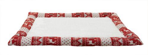 """Лежак для животных """"Fauna"""", цвет: белый, красный, 40 х 60 см"""