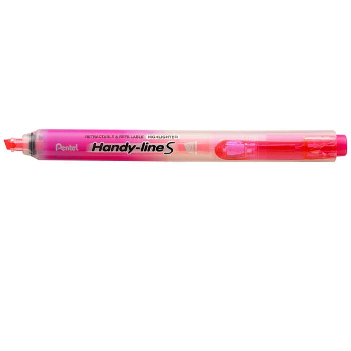 Pentel Текстовыделитель Handy-Lines, цвет: розовыйPSXS15-PТекстовыделитель Handy-Lines с функцией чистый карман розового цвета станет незаменимым как на столе школьника, так и студента. Стержень автоматически убирается при нажатии на кнопку. Такой маркер никогда не испачкает вашу одежду!Обеспечивает ровные четкие линии толщиной 1,0-4,5 мм.