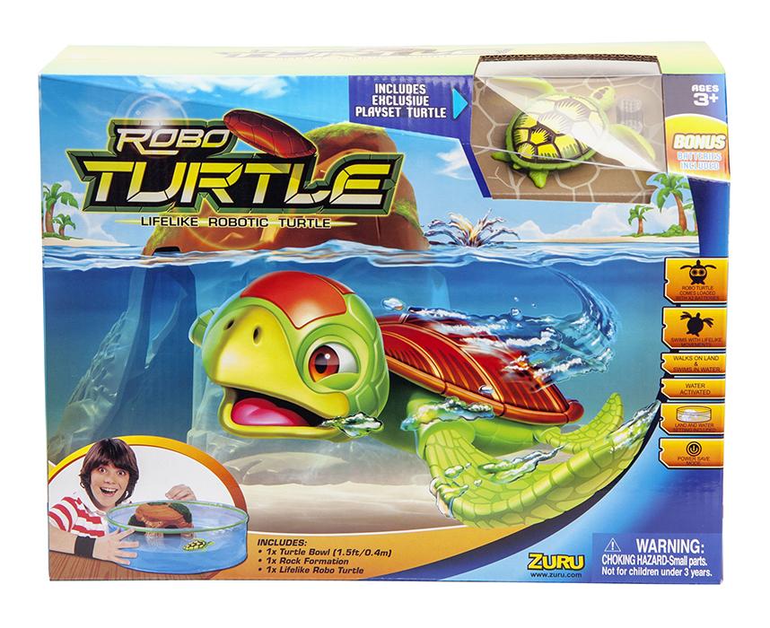 Robofish Большой набор РобоЧерепашка и аквариум с островом - Интерактивные игрушки