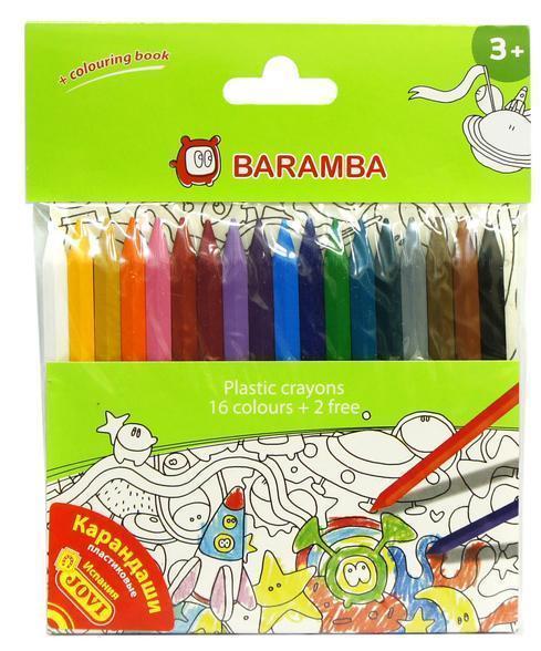 Набор пластиковых карандашей в блистере 18 шт +внутренний вкладыш-раскраска набор пластиковых цветных карандашей baramba 16цв