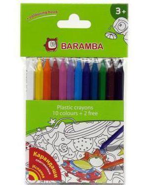Набор пластиковых карандашей в блистере 12 шт +внутренний вкладыш-раскраска