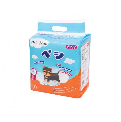 Пеленки для домашних животных Maneki NekiZoo, размер L (60 х 90 см), 15 шт.PP1323Пеленки для домашних животных Maneki NekiZoo быстро пропускают влагу внутрь, поверхность остается сухой. Верхний слой из нежного и прочного материала, устойчивогок повреждениям. Клейкие полоски на обратной стороне пеленки надежно фиксируют пеленки на поверхности.Размер: 60 х 90 см
