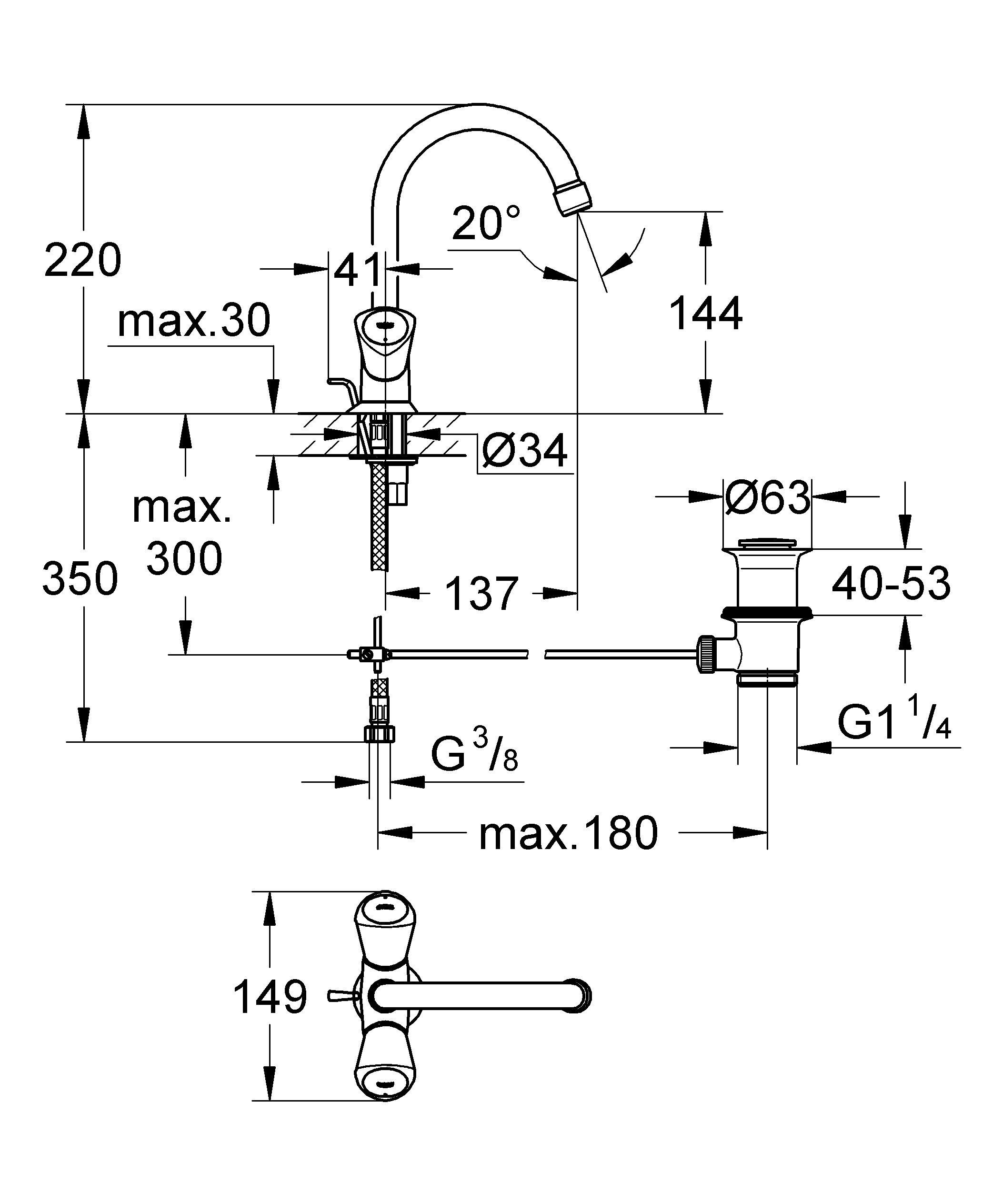 Металлические рукоятки  С теплоизоляцией  Привинчивающаяся  Carbodur керамический вентиль  Поворотный трубкообразный излив с аэратором  Сливной гарнитур 1 1/4?  Гибкая подводка  GROHE StarLight хромированная поверхность    Видео по установке является исключительно информационным. Установка должна проводиться профессионалами! Характеристики:    Материал: металл. Цвет: хром. Количество монтажных отверстий: 1. Размер упаковки: 44,5 см x 16,5 см x 7 см. Артикул: 21257001.