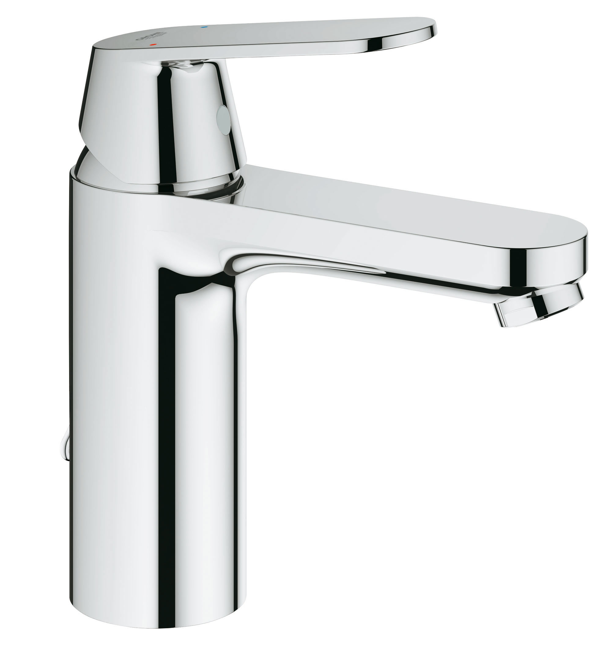 Если вы подбираете для ванной комнаты смеситель, который экономно расходует воду и при этом обеспечивает максимум комфорта, то он перед вами! Однорычажный смеситель с цепочкой с возвратным механизмом GROHE Eurosmart Cosmopolitan позволяет сократить расход воды практически вдвое. Экономя средства без ущерба для собственного комфорта, вы сможете полноценно наслаждаться повседневными водными процедурами. Этот смеситель Eurosmart Cosmopolitan, демонстрирующий качество высшего уровня и формой, и содержанием, станет великолепным выбором для оснащения вашей ванной комнаты. Особенности   монтаж на одно отверстие  средняя высота  металлический рычаг  GROHE SilkMove керамический картридж 35 мм  GROHE StarLight хромированная поверхность  GROHE EcoJoy аэратор  цепочка  гибкая подводка  GROHE QuickFix быстрая монтажная система  дополнительный ограничитель температуры (46375000)   Видео по установке является исключительно информационным. Установка должна проводиться профессионалами!