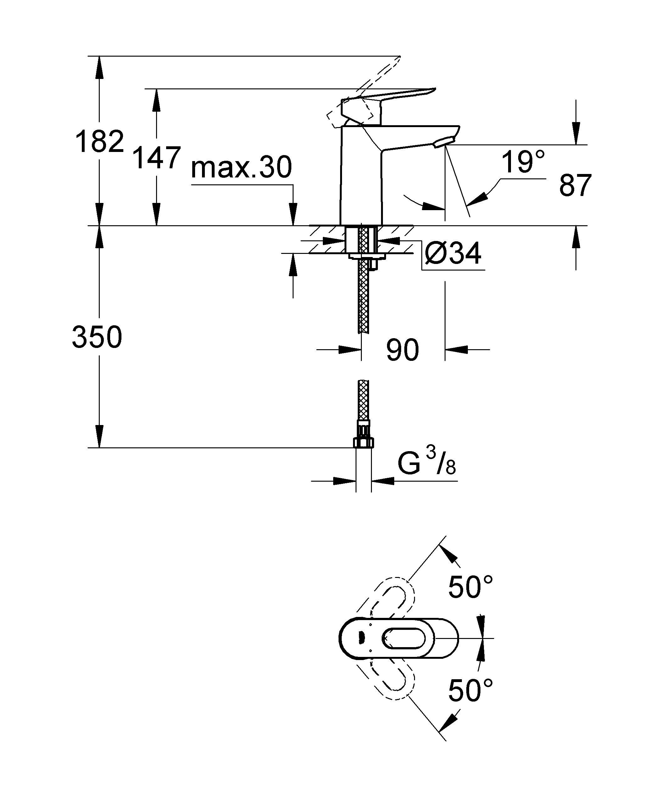 Монтаж на одно отверстие  Металлический рычаг  GROHE SilkMove керамический картридж 28 мм  GROHE StarLight хромированная поверхность   GROHE EcoJoy - технология совершенного потока при уменьшенном расходе воды   Аэратор  Гладкий корпус  Гибкая подводка  Система быстрого монтажа  Минимальное давление 1,0 бар   Видео по установке является исключительно информационным. Установка должна проводиться профессионалами!