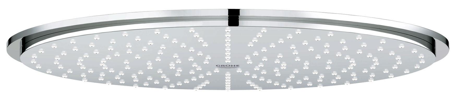 Верхний душ GROHE Rainshower (27477000)27477000RainМеталлO 310 ммРезьбовое соединение 1/2?Шаровой шарнир с углом поворота 20° ± 20°С системой SpeedClean против известковых отложенийМожет использоваться с проточным водонагревателемGROHE StarLight хромированная поверхность GROHE DreamSpray превосходный поток воды