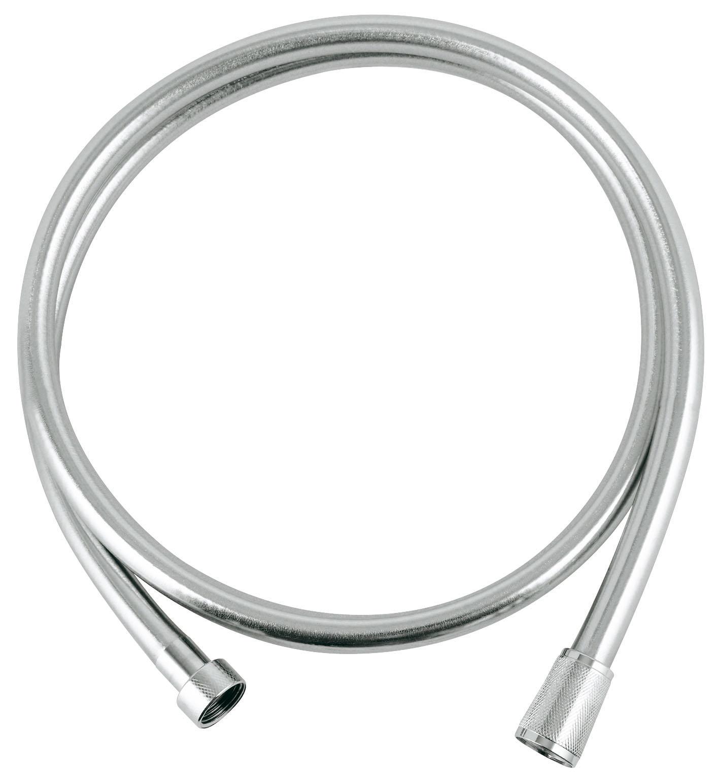 Душевой шланг Grohe Silverflex, длина 1,5 м. 2836400027584002Душевой шланг из пластика с гладкой поверхностью повышенной гибкости, легко чистится, с защитой от залома, на обоих краях вращающийся конус (Anti-Twist).Длина: 1500 мм. Присоединительный размер: 1/2 x 1/2. Хромированная поверхность GROHE StarLight. Видео по установке является исключительно информационным. Установка должна проводиться профессионалами!