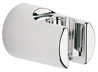 """Держатель для душа Grohe """"Relaxa"""" изготовлен из высококачественного пластика с хромированным покрытием StarLight. Изделие крепится на стену при помощи шурупов (входят в комплект)."""