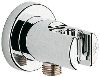 Подключение для душевого шланга Grohe Relexa, с держателем28261001С держателем ручного душа GROHE StarLight хромированная поверхность