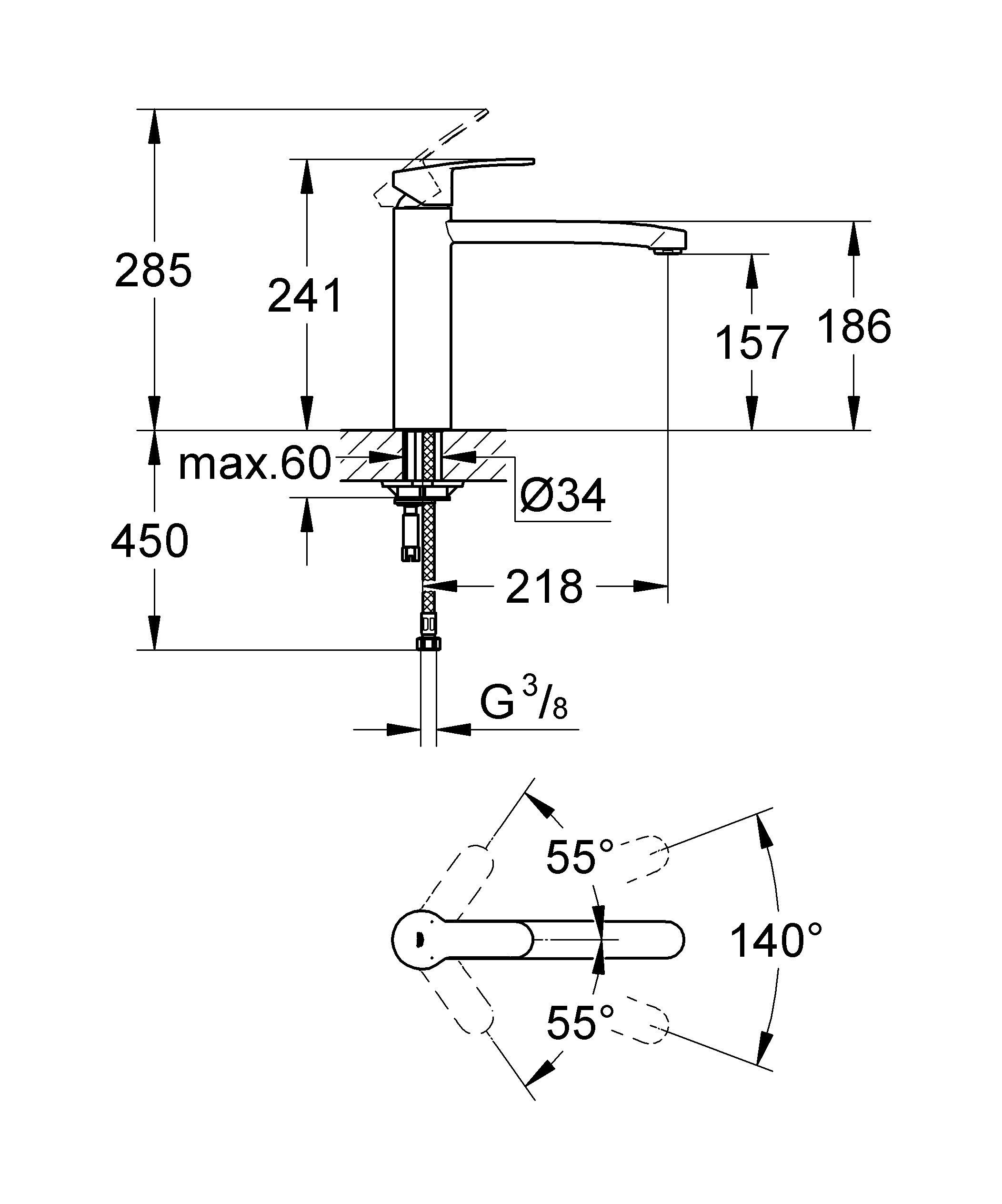 GROHE Eurostyle Cosmopolitan: высокофункциональный и стильный смеситель для кухни Этот кухонный смеситель из серии GROHE Eurostyle, оснащенный изливом средней высоты, позволит Вам с легкостью наполнять высокие емкости. Возможность вращения излива в радиусе 140° обеспечивает достаточно удобства в работе и одновременно с этим исключает удары излива об окружающие шкафы и стены. Технология GROHE SilkMove обеспечивает плавность и легкость регулировки температуры и напора воды. Система упрощенного монтажа позволит произвести установку смесителя быстро и без затруднений. И с эстетической, и с функциональной точки зрения, данный смеситель для мойки станет одним из важнейших элементов оснащения Вашей кухни. Кроме того, благодаря износостойкому хромированному покрытию GROHE StarLight, он сохранит свой первозданный сияющий вид даже после многих лет эксплуатации. Особенности:   Средний излив  Монтаж на одно отверстие  GROHE SilkMove керамический картридж 35 мм  GROHE StarLight хромированная поверхность   Регулировка расхода воды  Поворотный трубкообразный излив  Область поворота 140°  Аэратор  Гибкая подводка  Система быстрого монтажа   Видео по установке является исключительно информационным. Установка должна проводиться профессионалами!