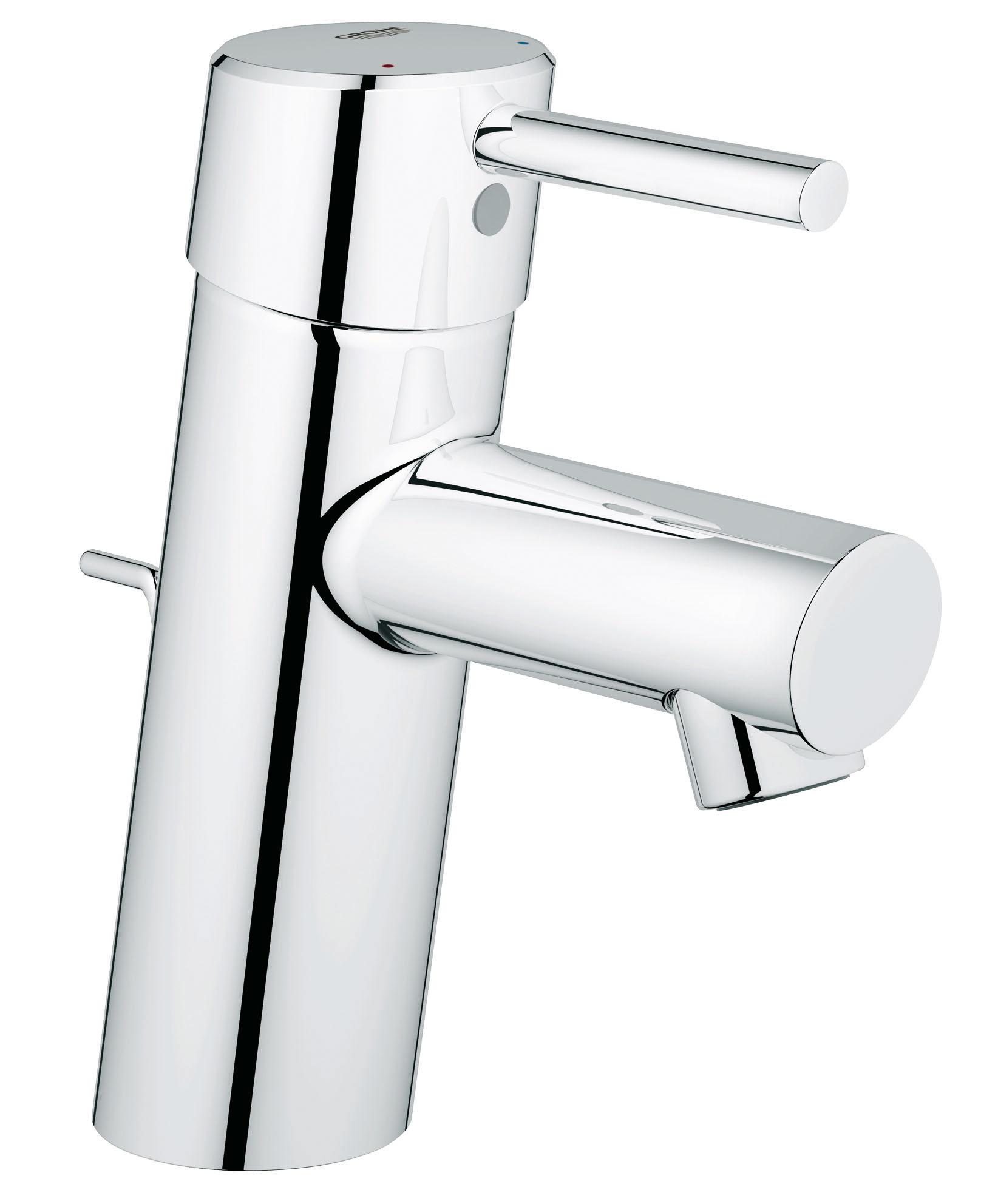 Смеситель для раковины GROHE Concetto (32204001)32204001GROHE Concetto: смеситель для ванной комнаты в современном стиле, с глянцевым хромированным покрытием Как в эстетическом, так и в функциональном отношении этот однорычажный смеситель для ванной комнаты из серии Concetto безупречен в каждой детали. Высота его излива подобрана таким образом, чтобы им было удобно пользоваться в комбинации с любой раковиной стандартного размера. С помощью подъемного штока, встроенного в корпус смесителя сзади, удобно открывать и закрывать сливной клапан. Технология GROHE SilkMove обеспечивает плавность и легкость регулировки температуры и напора воды. Износостойкое хромированное покрытие GROHE StarLight придает смесителю восхитительный блеск, который будет радовать глаз даже после многих лет эксплуатации и придавать особое очарование интерьеру Вашей ванной комнаты. Этот продуманный во всех отношениях смеситель комплектуется системой упрощенного монтажа, которая поможет Вам установить его практически мгновенно.Особенности:Монтаж на одно отверстие Металлический рычаг GROHE SilkMove керамический картридж 28 мм GROHE StarLight хромированная поверхностьАэратор Сливной гарнитур 1 1/4? Гибкая подводка GROHE QuickFixTM быстрая монтажная система Класс шума I по DIN 4109С ограничителем температуры Дополнительный ограничитель температуры Видео по установке является исключительно информационным. Установка должна проводиться профессионалами! Характеристики:Материал: металл. Цвет: хром. Количество монтажных отверстий: 2. Размер упаковки: 50 см x 22,5 см x 7 см. Артикул: 32204001.
