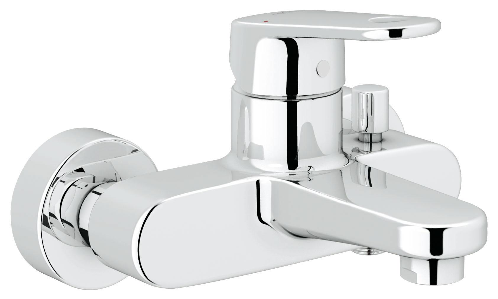 Смеситель для ванны GROHE Europlus (33553002)LM7736C Настенный монтажМеталлический рычагGROHE SilkMove керамический картридж O 46 ммGROHE StarLight хромированная поверхность Регулировка расхода водыВозможность установки мин. расхода 2,5 л/мин.Автоматический переключатель: ванна/душВстроенный обратный клапан в душевом отводе 1/2?Аэратор с функцией SpeedCleanСкрытые S-образные эксцентрикиОграничитель температурыС защитой от обратного потокаВидео по установке является исключительно информационным. Установка должна проводиться профессионалами!