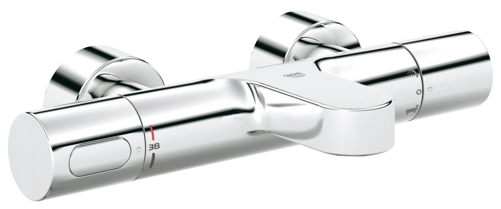 Термостатический смеситель для ванны GROHE Grohtherm 3000 Cosmopolitan (34276000)34276000Настенный монтаж GROHE CoolTouch безопасный корпус GROHE TurboStat встроенный термоэлемент Аквадиммер многофункциональный: - регулировка расхода Стопор безопасности при 38°C Встроенный стопор смешанной воды - переключатель: ванна/душ Отвод для душа снизу 1/2? Аэратор GROHE StarLight хромированная поверхностьВстроенные обратные клапаны Грязеулавливающие фильтры Скрытые S-образные эксцентрики С защитой от обратного потока GROHE EcoJoy - технология совершенного потока при уменьшенном расходе воды Видео по установке является исключительно информационным. Установка должна проводиться профессионалами!