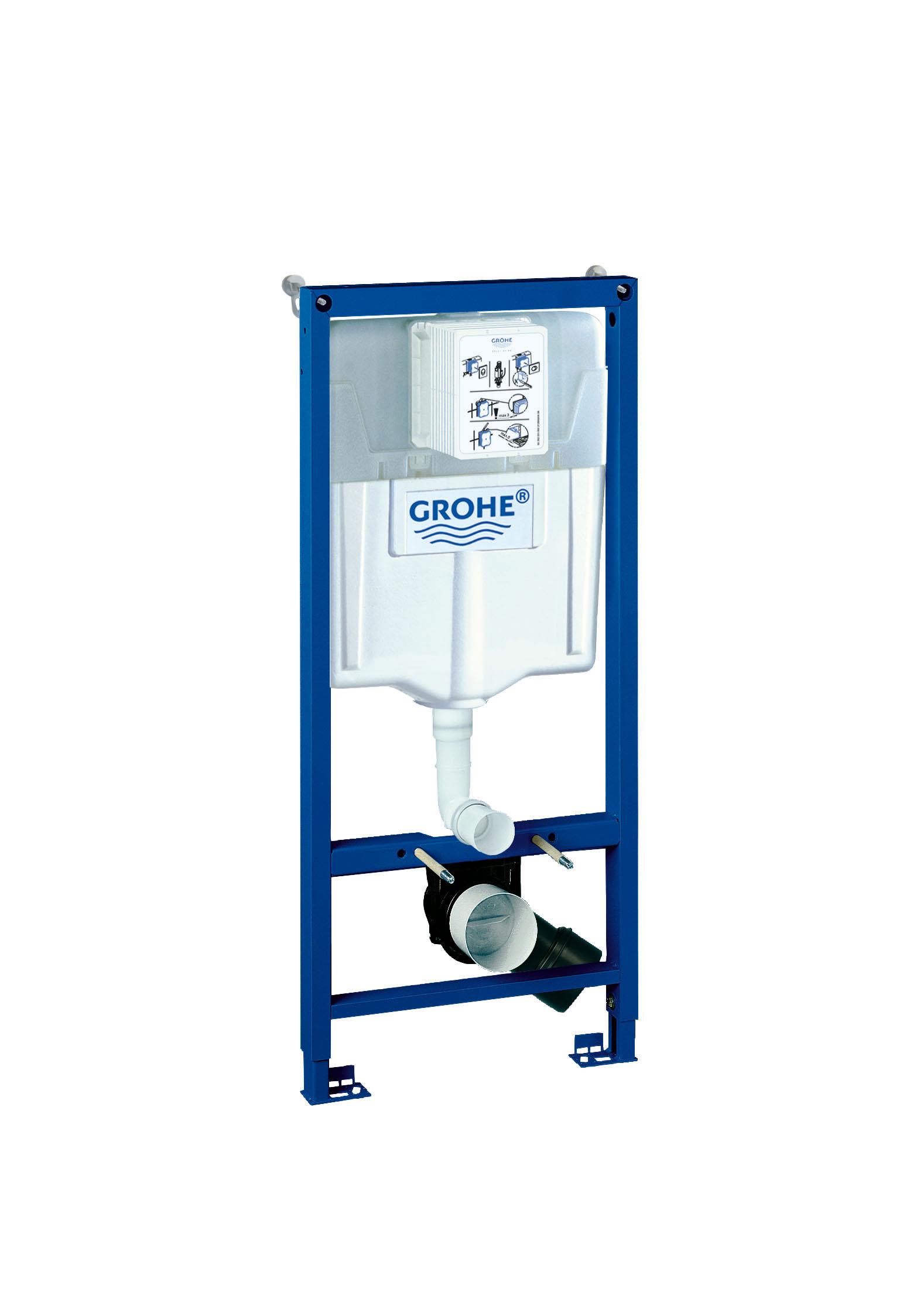 Система инсталляции для унитаза GROHE Rapid SL (1,13 м) (38536001)38536001Смывной бачок GD 2 С маленьким ревизионным окошком Монтажная высота 1,13 м Для монтажа перед стеной или стеной перегородкой Самонесущая стальная рама сПорошковым напылением Подготовлена для облицовки Фиксированные подключения Для одиночного или рядного монтажа Быстрая регулировка по высоте Крепежный материал Проверено -TUEV 2 болта-держателя для унитаза Крепление для керамики Расстояние между болтами 180/230 мм Выходной патрубок для унитаза O 90 мм Регулировка глубины монтажа Редуктор O 90/110 мм Впускной и смывной гарнитуры Смывной бачок GD 2, 6 - 9 л Заводская настройка 6 л и 3 л Пневматический смывной клапан с тремя режимамиСлива: 2-х объёмный, старт/стоп, или непрерывный Подключение воды слева, справа и сзади Арматурная группа I В соответствии с DIN С изоляцией от конденсационной влаги Подключение воды DN 15 Для вертикального или горизонтального монтажа С принадлежностями для монтажа перед стенойВидео по установке является исключительно информационным. Установка должна проводиться профессионалами!