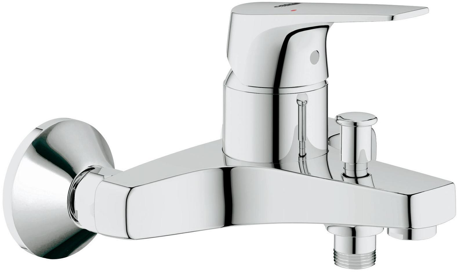Смеситель для ванны GROHE BauFlow, хром   Видео по установке является исключительно информационным. Установка должна проводиться профессионалами! Серия: BauFlow; цвет: хром