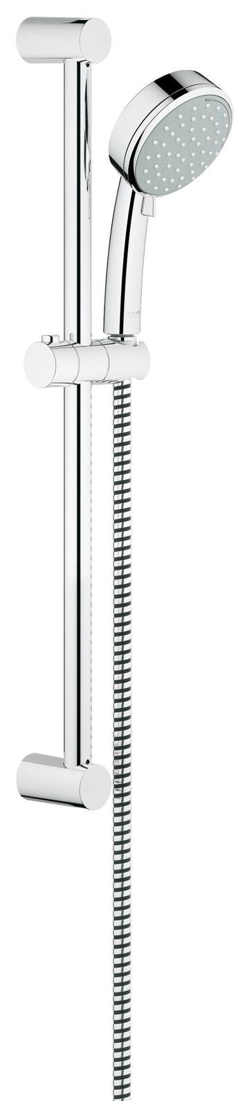 Душевой гарнитур GROHE Tempesta Cosmopolitan (ручной душ, штанга 600 мм, шланг 1750 мм), хром27578001Душевая гарнитура, 2 вида струй включает в себя: ручной душ (27 571 001) душевая штанга, 600 мм (27 521 000) душевой шланг Relexaflex 1750 мм 1/2 x 1/2 (28 154 000) GROHE DreamSpray превосходный поток воды GROHE StarLight хромированная поверхностьс системой SpeedClean против известковых отложений Внутренний охлаждающий канал для продолжительного срока службы может использоваться с проточным водонагревателем минимальное давление 1,0 барВидео по установке является исключительно информационным. Установка должна проводиться профессионалами! Серия: Tempesta Cosmopolitan; цвет: хром