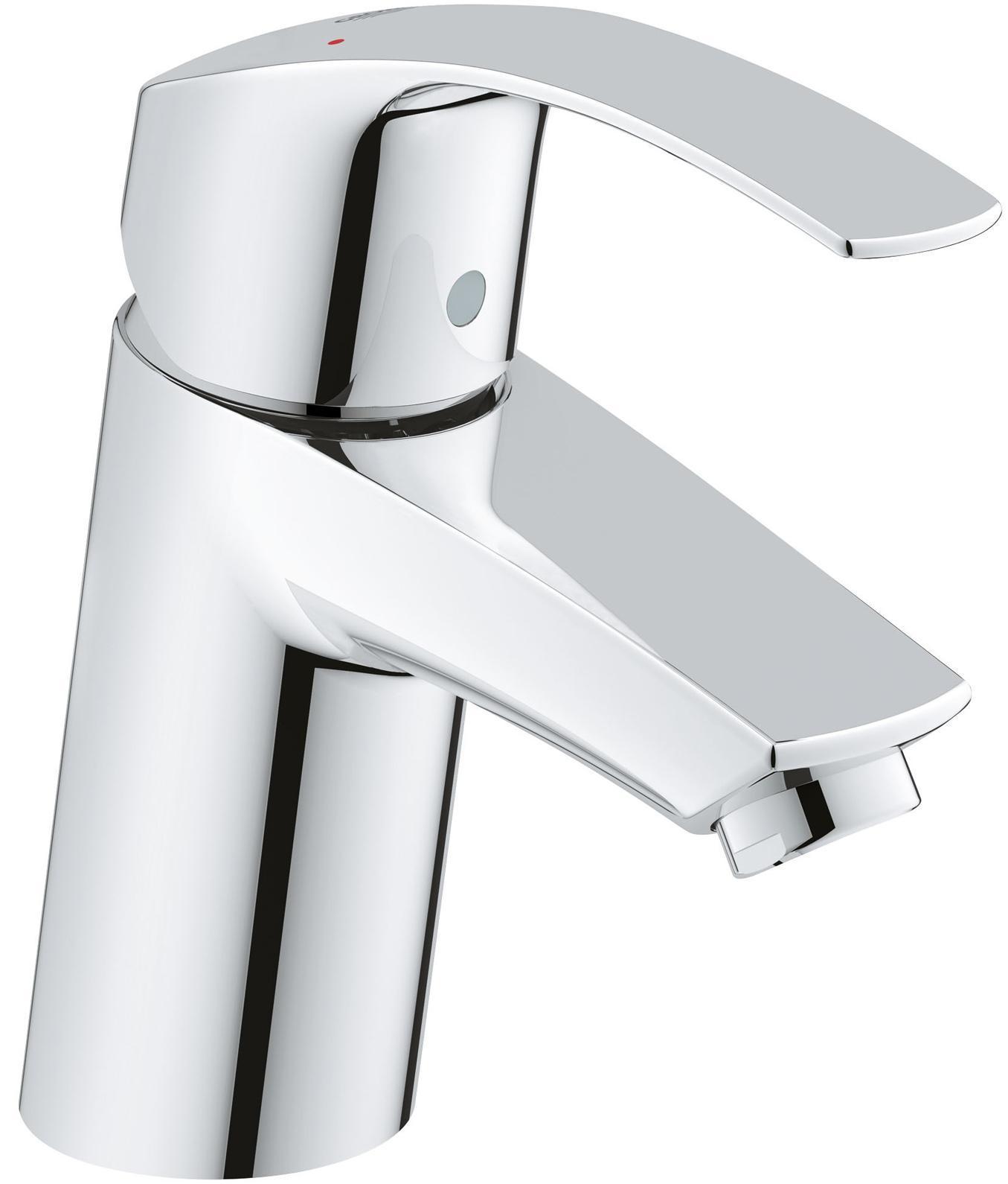 Смеситель для раковины GROHE Eurosmart New с низким изливом, хром32467002GROHE Eurosmart: смеситель для раковины в обтекаемом корпусе с износостойким глянцевым покрытием Если Вам необходим смеситель для ванной комнаты без встроенных сливных механизмов, Вам подойдет данная модель с цельным корпусом без штоков и цепочек. Хромированное покрытие GROHE StarLight придает смесителю роскошный блеск, подчеркивающий его лаконичный и эффектный дизайн. Картридж с прогрессивной технологией GROHE SilkMove сообщает рычагу чрезвычайно плавный ход, который сохраняется даже после многих лет интенсивной эксплуатации. Водосберегающий механизм GROHE EcoJoy обеспечивает экономию воды, достигающую 50%. Система упрощенного монтажа поможет установить смеситель и подготовить его к работе с минимальными затратами времени.Особенности:Монтаж на одно отверстие Металлический рычаг GROHE SilkMove керамический картридж 35 мм С ограничителем температуры Регулировка расхода воды GROHE StarLight хромированная поверхностьGROHE EcoJoy5.7 л/мин Гладкий корпус Гибкая подводка GROHE QuickFix быстрая монтажная система Видео по установке является исключительно информационным. Установка должна проводиться профессионалами! Серия: Eurosmart New; цвет: хром