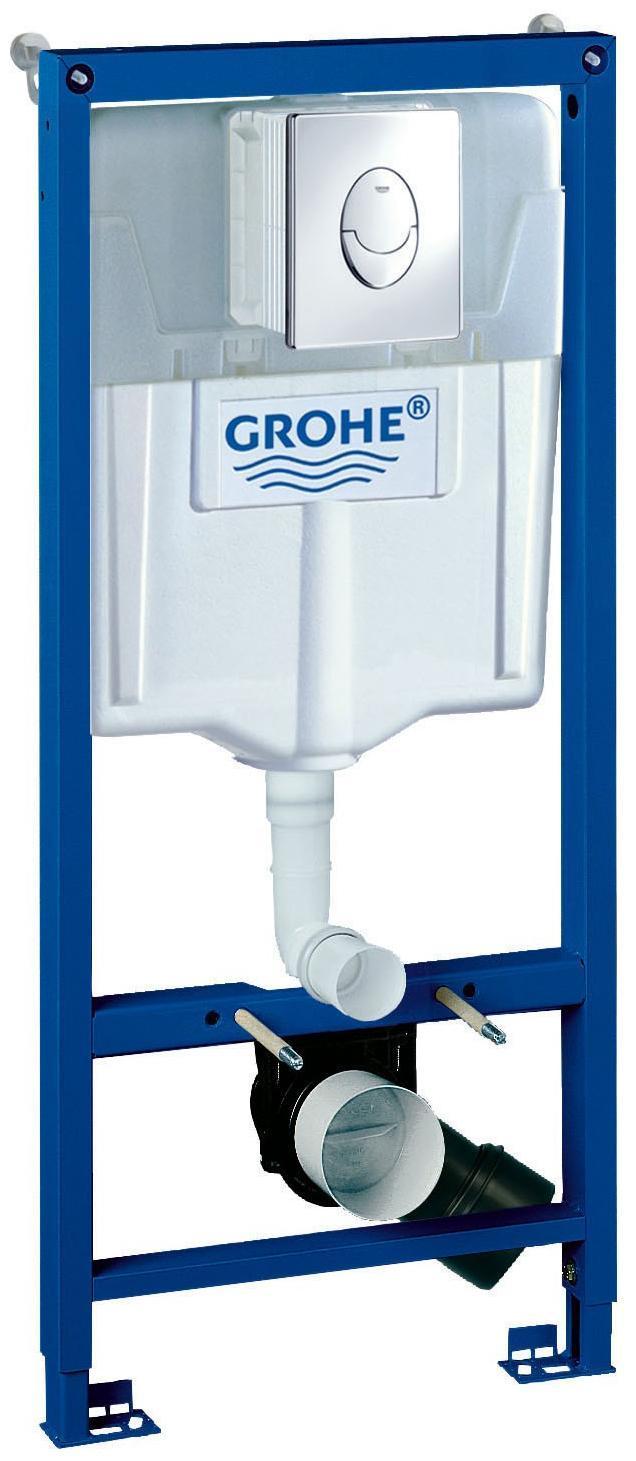 Система инсталляции для унитаза GROHE Rapid SL с панелью смыва Skate Air (3 режима смыва) - Сантехника и санфаянс
