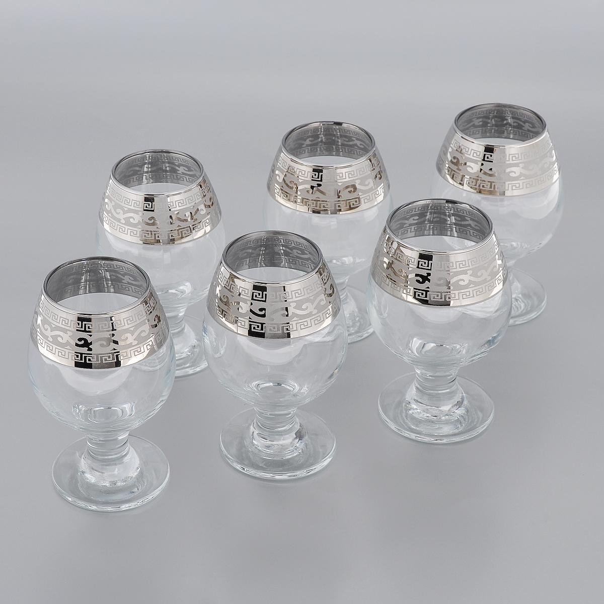 Набор фужеров для бренди Гусь-Хрустальный Версаче, 250 мл, 6 шт набор бокалов для бренди гусь хрустальный версаче 400 мл 6 шт