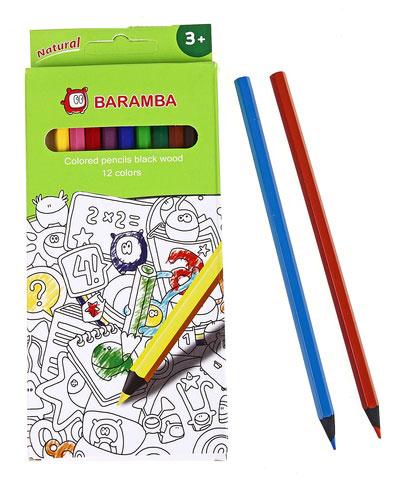 Карандаши деревянные цветные Jovi, 12 цветов карандаши восковые мелки пастель jovi карандаши пластиковые круглые 12 цветов
