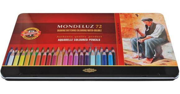 Набор карандашей акварельных MONDELUZ, металлическая подарочная упаковка, 72 цв - Письменные принадлежности - Карандаши
