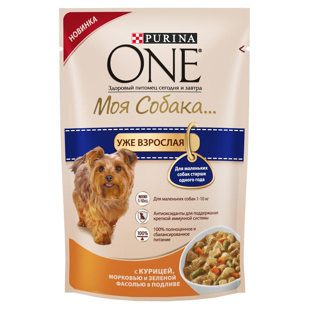 Корм консервированный Purina One Мини Моя Собака...Уже взрослая, для взрослых собак мелких пород старше одного года, с курицей, морковью и зеленой фасолью в подливе, 100 г12263890Корм консервированный Purina One Мини Моя Собака...Уже взрослая - высококачественное питание из мягких кусочкови овощей в подливе легко усваивается и разработаноспециально для собак мелких пород старше одного года. Ваша собака сможет наслаждаться вкусным кормом каждый день.Преимущества:- содержит антиоксиданты для поддержания крепкой иммунной системы,- для маленьких собак 1-10 кг,- легкая усвояемость,- 100% полноценное и сбалансированное питание.Состав: мясо и продукты его переработки (из которых курица 4%), овощи (4% моркови из сухой моркови, 4% зеленой фасоли из сухой зеленой фасоли), продукты переработки овощей, экстракт растительного белка, рыба и продукты ее переработки, сахара, минеральные вещества, растительные и животные жиры, витамины.Добавленные вещества, МЕ/кг: витамин А: 1036; витамин D3:144; витамин E:157мг/кг: железо: 9,8; йод: 0,37; медь: 0,94; марганец: 1,73; цинк: 26,79; селен: 0,022.Гарантированные показатели: белок 11,3%, жир 3,5%, сырая зола 1,9%, сырая клетчатка 1,6%, влажность 78,7%.Товар сертифицирован.