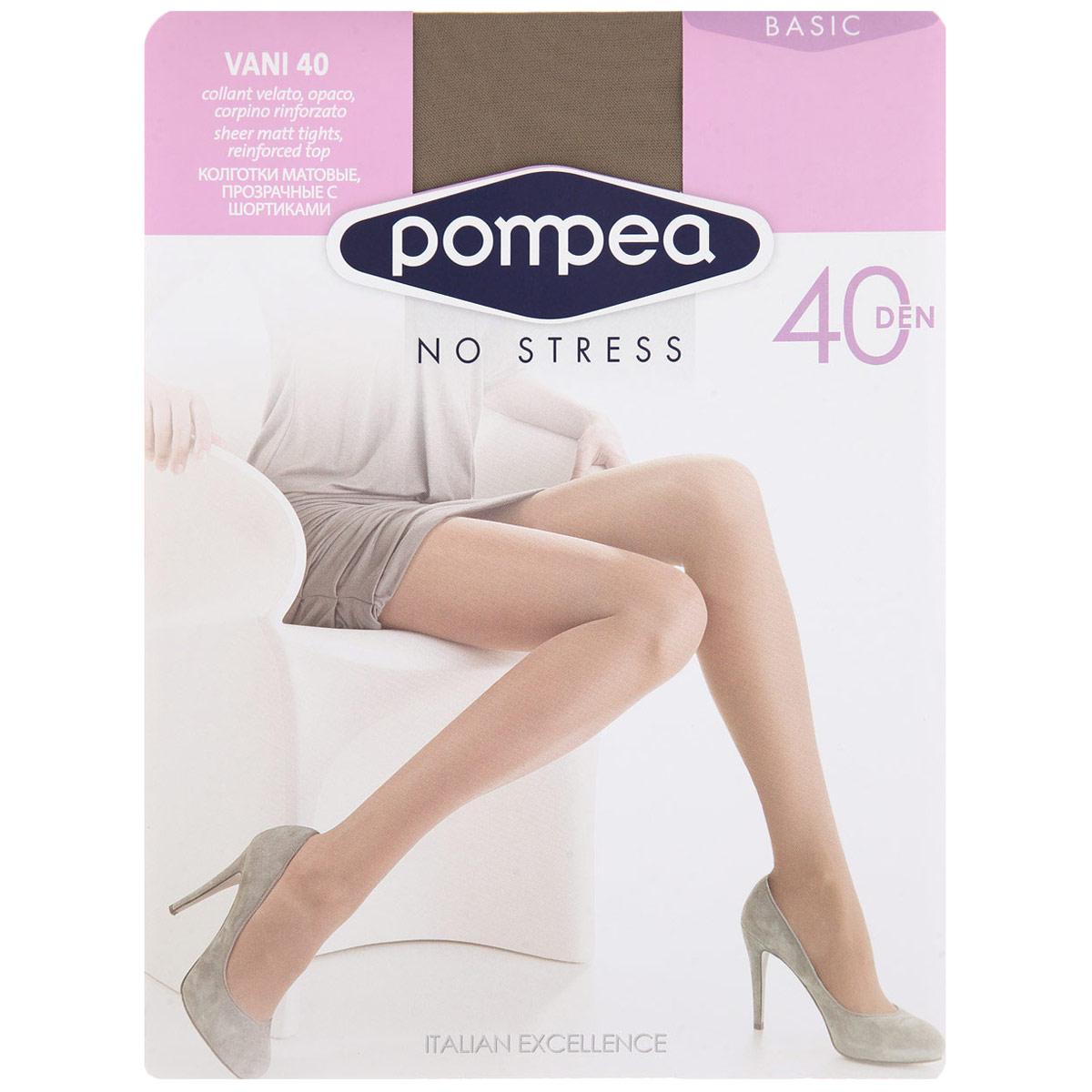 Колготки женские Pompea Vani 40, цвет: Nature (цвет загара). 720480. Размер 5 (XL) гольфы pompea гольфы vani 20