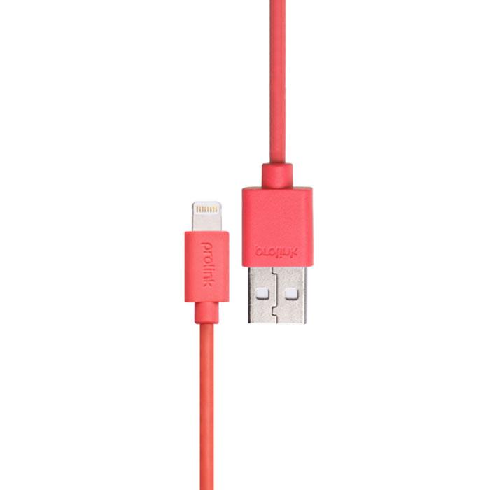 Prolink PB341, Pink USB-кабель Apple Lightning (1 м)PB341PKКабель Prolink PB341 создан для подключения iPhone, iPad или iPod с разъёмом Lightning к порту USB на компьютере для синхронизации и подзарядки, либо к адаптеру питания Apple USB для удобной подзарядки напрямую от розетки питания.В Prolink PB341 использованы оригинальные чипы, что позволяет гарантировать на 100% совместимость и работоспособность с оригинальными устройствами Apple. Применение меди в разъёмах, где происходит контакт и проводов OFC, позволяет на 30% улучшить передачу сигнала по сравнению со стандартными кабелями.Не смотря на столь малые размеры штекера с 8-ю контактами, подключение очень быстрое и надёжное благодаря симметричному расположению контактов с каждой стороны и закруглённым углам.