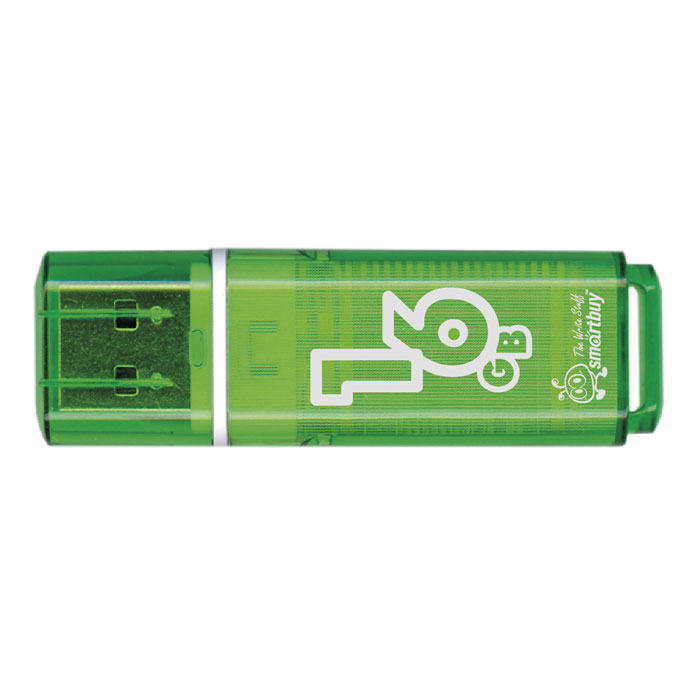 SmartBuy Glossy Series 16GB, Green USB-накопитель