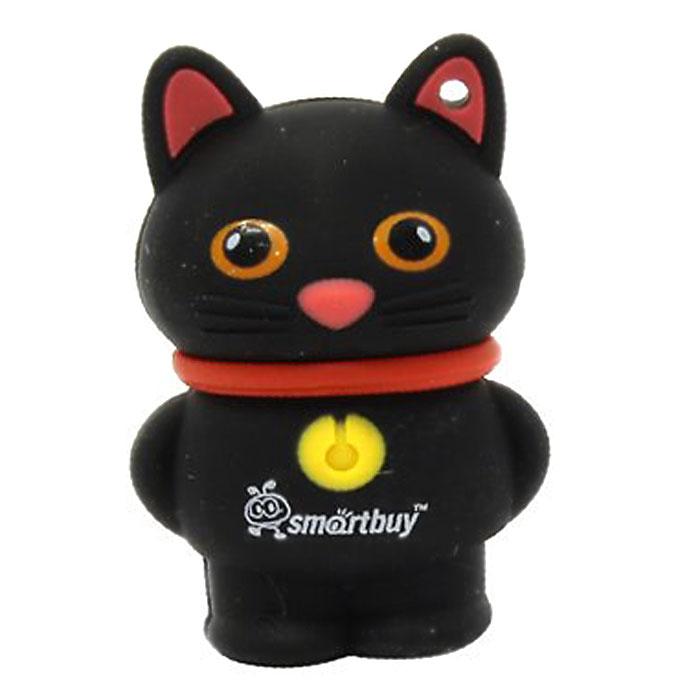 SmartBuy Wild Series Catty 16GB, Black USB-накопитель smartbuy click 32gb black usb накопитель