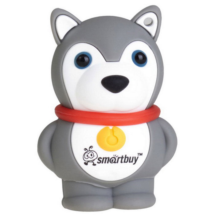 SmartBuy Wild Series Dog 16GB, Grey USB-накопитель usb flash drive 8gb smartbuy wild dog grey sb8gbdgr